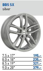 BBS SX - silver